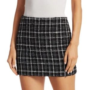 NWOT ALICE + OLIVIA ELANA TWEED MINI SKIRT